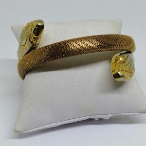 bracelet serpents en métal jaune 1930-40
