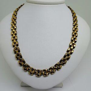 collier plaqué or signé Murat 1930-40