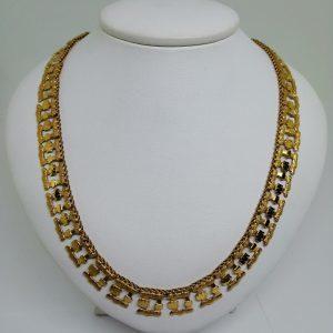 collier plaqué or laminé 1940-50
