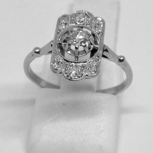 bague platine avec diamants art déco