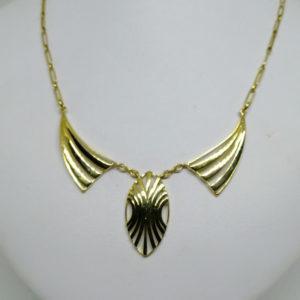 collier en or jaune motif géométrique art déco vers 1925