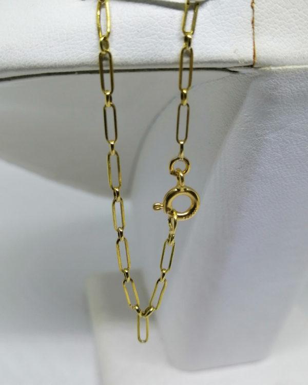 collier en or jaune avec motif géométrique art déco vers 1925